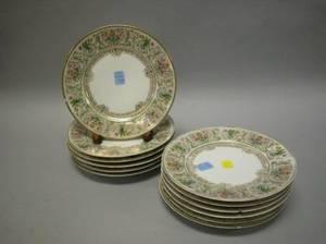 Set of Twelve Limoges Porcelain Luncheon Plates