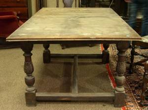 Irving  CassonAH Davenport Jacobeanstyle Carved Mahogany Extension Dining Table
