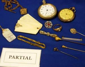 Group of Victorian and Early 20th Century Estate Jewelry Accessories and Findings