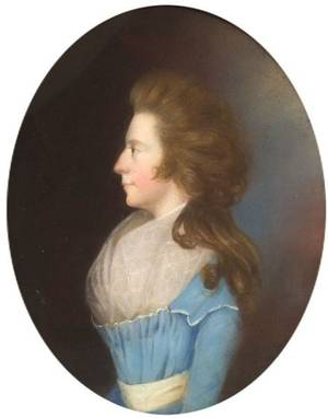 Attributed to James Sharples Sr British 17511811 Portrait of a Young Woman