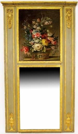 Louis XVI Style Trumeau Mirror wStill Life