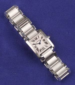 Ladys Stainless Steel Wristwatch Cartier