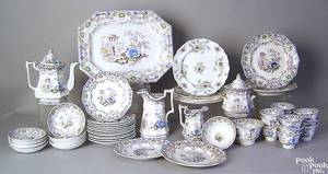 Ironstone dinner service in the Cleopatra pattern