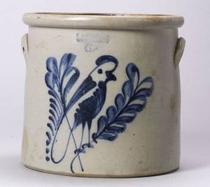 Cobalt Decorated SixGallon Stoneware Crock