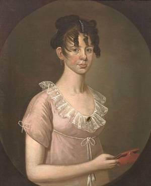 Attributed to William Jennys Connecticut Massachusetts and New Hampshire ac ac 17981808 Portrait of Anna Hoyt b 1783