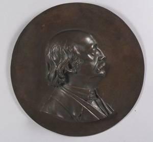 Cast Bronze Portrait Plaque of Civil War Major General Benjamin Butler