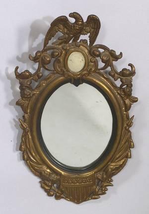 Gilded Patriotic Cast Iron Mirror
