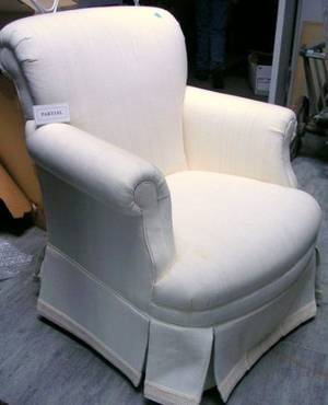 Pair of Georgianstyle White Upholstered Armchairs