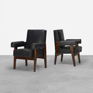 Le Corbusier and Pierre Jeanneret   pair of armchairs from the High Court Chandigarh