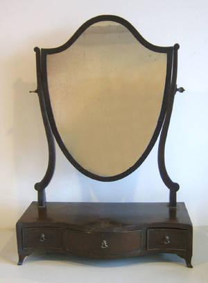 Regency mahogany shaving mirror early 19th c