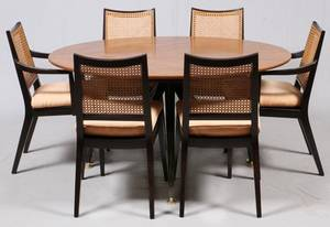 DUNBAR DINING TABLE  SET OF CHAIRS
