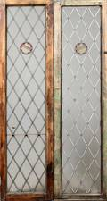 LEADED AND STAINED GLASS DOORS PAIR
