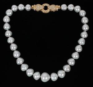 SOUTH SEA PEARL NECKLACE 1117MM DIAMOND CLASP