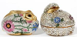 JUDITH LEIBER CRYSTAL PILL BOXES TWO