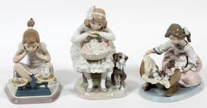 LLADRO PORCELAIN FIGURES THREE