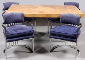 MILO BAUGHMAN FOR THAYER COGGIN TABLE  CHAIRS