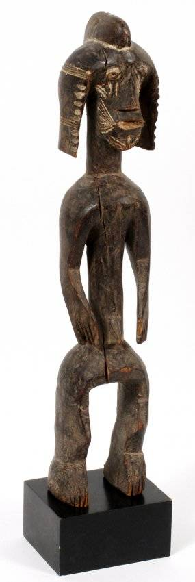 AFRICAN CARVED WOOD MALE FIGURE