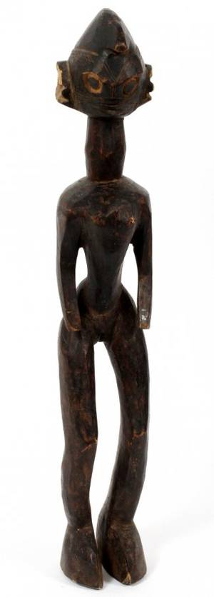 CHAMBA AFRICAN CARVED WOOD FEMALE FIGURE