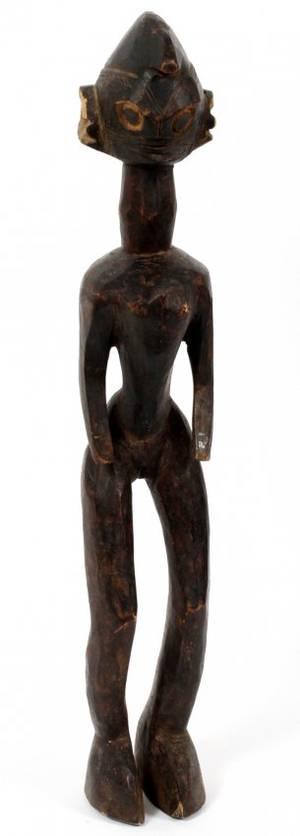 CHAMBA AFRICAN CARVED WOOD FEMALE FIGURE