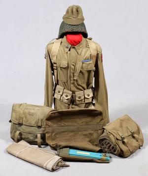 WWII 7TH ARMY FIELD DRESS UNIFORM ENSEMBLE C1944