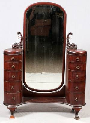 MAHOGANY DRESSING TABLE C 1870