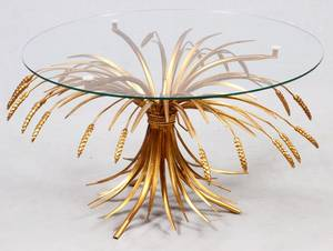 ITALIAN STYLE GLASS TOP TABLE