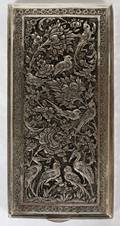 SILVER HINGED BOX EARLY 20TH C