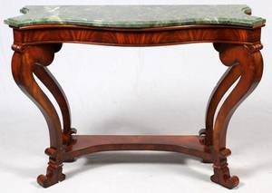HENREDON HISTORIC NATCHEZ MAHOGANY CONSOLE TABLE