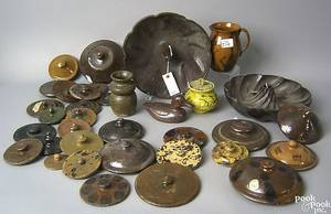 Large group of redware and earthenware