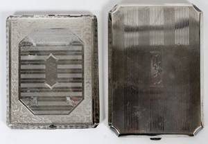 STERLING SILVER CIGARETTE CASE WITH OTHER C1920