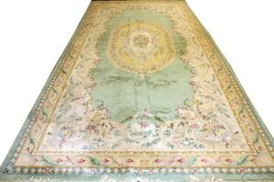 AUBUSSON STYLE HAND KNOTTED CARPET