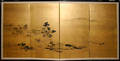 3135 JAPANESE PAINTED PAPER FOURPANEL SCREEN LANDSC