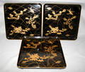 3112 JAPANESE LACQUER FOOTED TRAYS CIRCA 1900 EIGHT