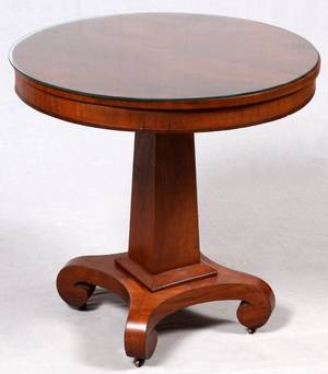 EMPIRE STYLE MAHOGANY DRUM TABLE