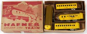 HAFNER STREAM LINE UNION PACIFIC TIN TRAIN SET