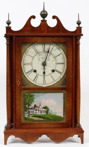 SETH THOMAS MAHOGANY MANTLE CLOCK C1900