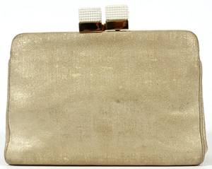 JUDITH LEIBER GOLD SUEDE EVENING BAG
