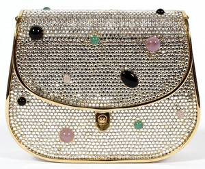 JUDITH LEIBER FULL BEAD  CABOCHON MINAUDIERE