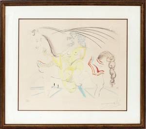 SALVADOR DALI HAND COLORED LITHOGRAPH