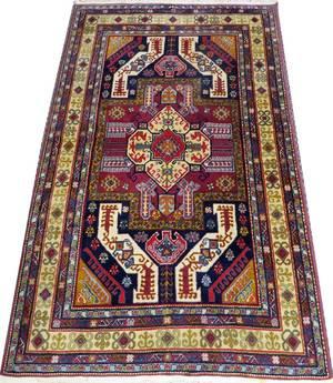 ARMENIAN KAZAK HAND WOVEN WOOL RUG