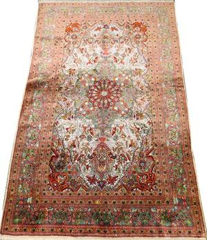 KASHMIR PERSIAN DESIGN PURE SILK RUG