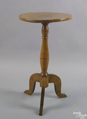 Pennsylvania tiger maple candlestand early 19th c