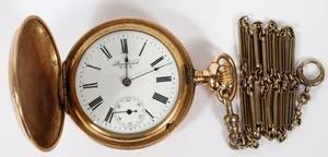 AMERICAN GOLD FILLED POCKET WATCH LATE 19TH C