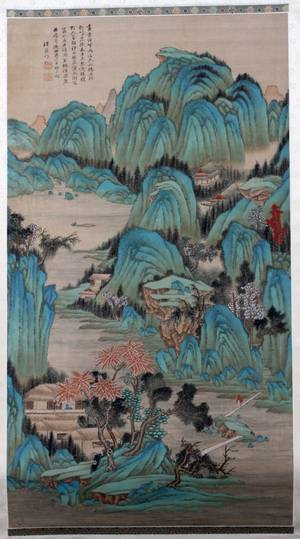 CHINESE HAND PAINTED SILK SCROLL