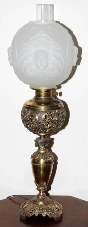ROCHESTER CO AMERICAN VICTORIAN OIL LAMP 19TH C