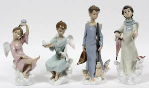 LLADRO PORCELAIN FIGURES OF THE SEASONS FOUR