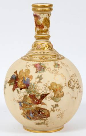 ROYAL CROWN DERBY PORCELAIN VASE C 1880