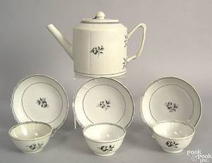 Chinese export porcelain tea service late 18th c