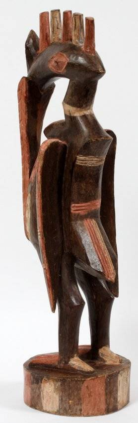 AFRICAN CARVED WOOD BIRD FIGURE
