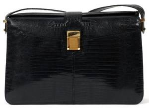 NAVY LIZARD SKIN SHOULDER BAG